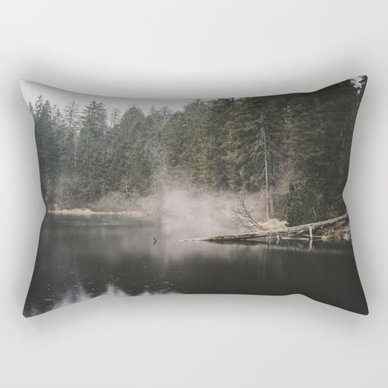 In the Fog - Landscape Photography Rectangular Pillow