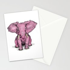 Pink Elephant and Roger Stationery Cards