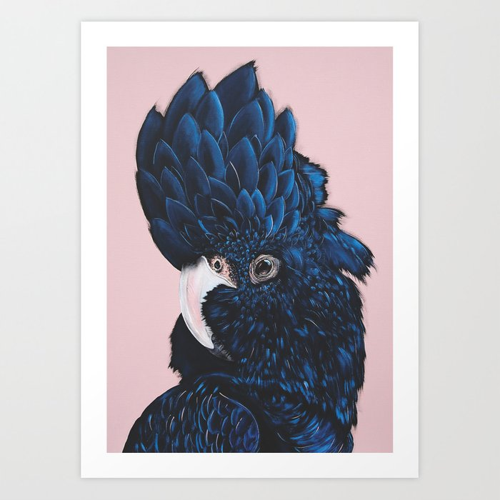 Alva The Black Cockatoo Art Print By Vixendesigns Society6