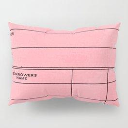 Library Card BSS 28 Pink Pillow Sham