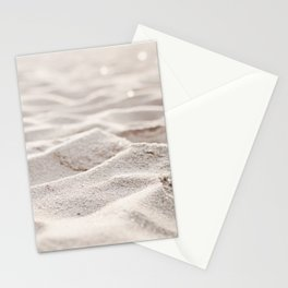 Sand Photography, Beach Photograph, Coastal Photo, Cream Beige Brown Neutral Stationery Cards