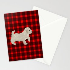 Cockapoo dog art cream Stationery Cards