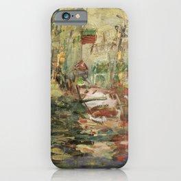 Kida Kinjiro - Landscape with Tanks (1959) iPhone Case