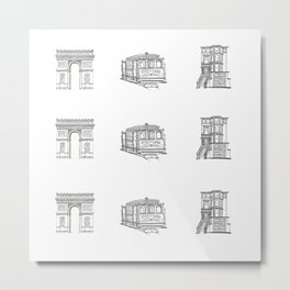 San Francisco Icons Metal Print