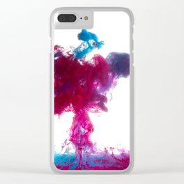 Pink Dye Clear iPhone Case