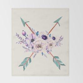 Floral Arrows Throw Blanket