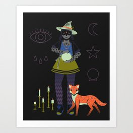 Witch Series: Crystal Ball Art Print