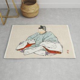 Crane by Kono Bairei (1844-1895) Rug