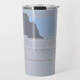 Illustrated Haystack Rock Travel Mug