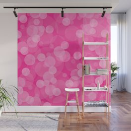 Pink Bubbles 4 Wall Mural