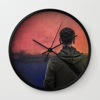 rothko Wall Clocks featuring Watching Rothko by Hipogrifos