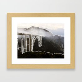 Line Series - Bixby Bridge, Big Sur, Califonria Framed Art Print