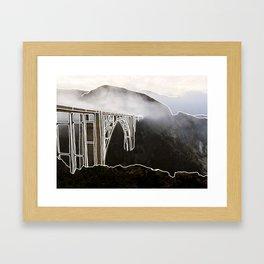 Line Series - Bixby Bridge, Big Sur, Califonria Framed Art Print