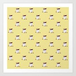 Coffee Mug Addicted To Coffee pattern Art Print