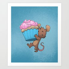 Cupcake Mouse Art Print
