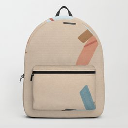 Dance of shapes - abstract composition Backpack