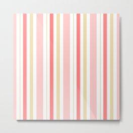 Strawberry Cake Stripes  Metal Print