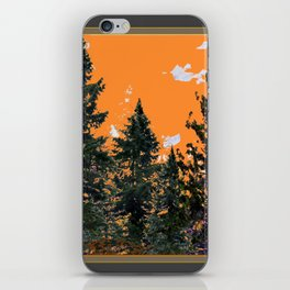 CHARCOAL GREY WESTERN PINE TREES  LANDSCAPE iPhone Skin