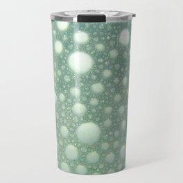 Abstract green teal modern polka dots texture pattern Travel Mug
