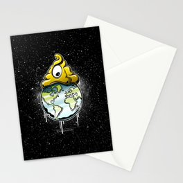 shit rules the world Stationery Cards