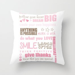 Quote Collage Throw Pillow