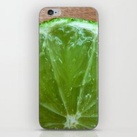 lime green iPhone & iPod Skins featuring Lime Green and Fresh by BluedarkArt