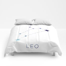 LEO STAR CONSTELLATION ZODIAC SIGN Comforters
