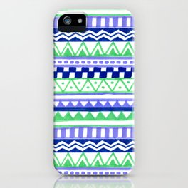 Blue Green Purple Pattern iPhone Case