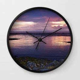 Sunset Split Wall Clock