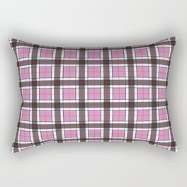 Violet Purple Plaid Pattern Rectangular Pillow