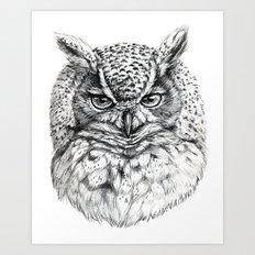 Owl SK136 Art Print