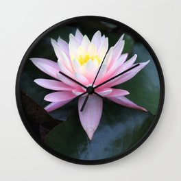 Pink Ombre Water Lily #1 Wall Clock