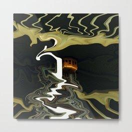 Wavy Elevator Metal Print