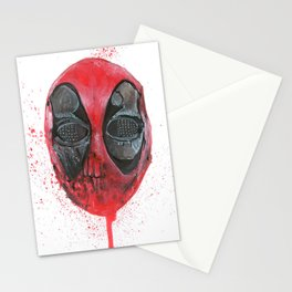 The Emptiness of Masks - Dead pool Stationery Cards
