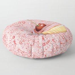 Pink Cupcake Paisley Bandana Floor Pillow