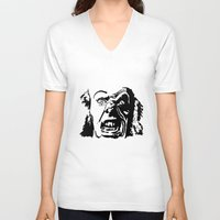 clown V-neck T-shirts featuring CLOWN by Guglielmo