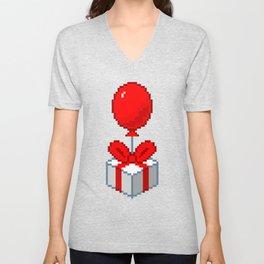 Animal Crossing Balloon Present Unisex V-Neck