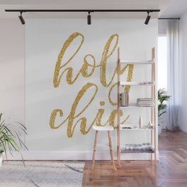 Holy Chic gold glitter Wall Mural