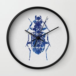 Blue Beetle II Wall Clock