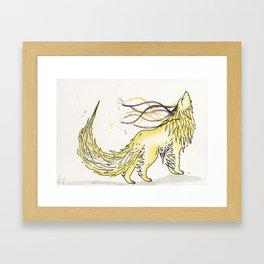 Sulfite the Sulphur Wolf. Framed Art Print