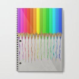 Melting Rainbow Pencils Metal Print