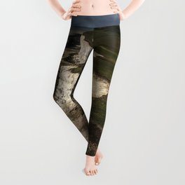 White cliffs of Beachy Head Leggings