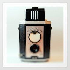 Smile vintage camera brownie reflex Art Print