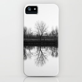 Trees Reflection iPhone Case