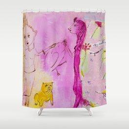 Dale de comer a las doce Shower Curtain