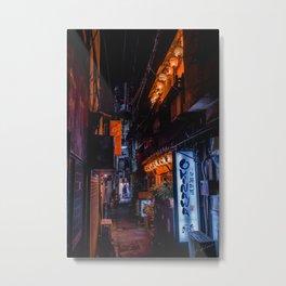 Tokyo alleyway Metal Print