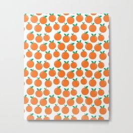 Oranges - sweet fruit summer fresh vegan vegetarian juicing cleanse art print home office decor Metal Print