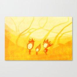 Flame Walk Canvas Print