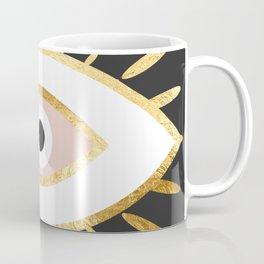 gold foil evil eye in blush Kaffeebecher