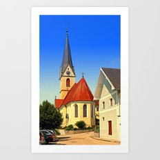 The village church of Allhaming III | architectural photography Art Print